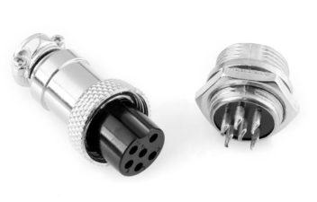 Docking aviation plug GX16 Male to Female pin /3/4/5/6/8 (7665)